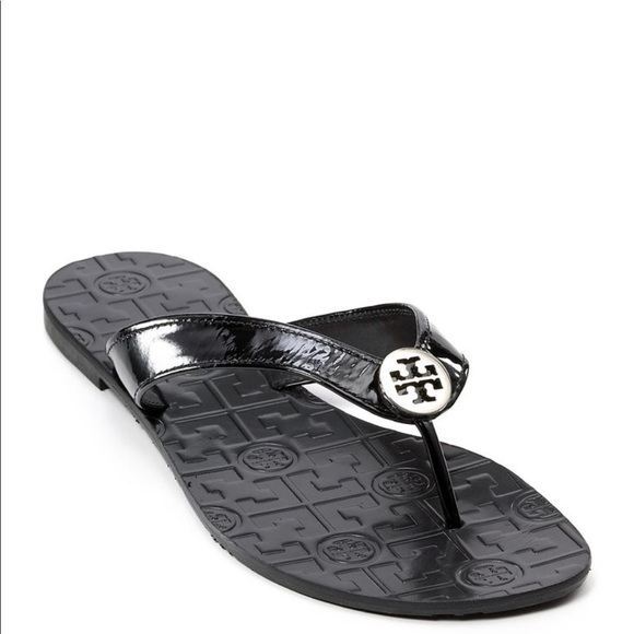 85d9ff0f31c4 Tory Burch Black Flip Flops 9